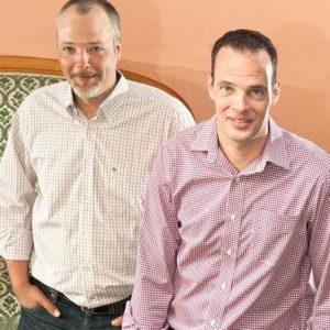 Silvio Erne links und sein Bruder Patrik Erne.